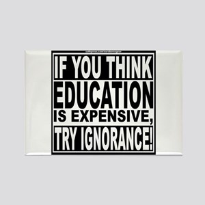 Education quote (Warning Label) Rectangle Magnet