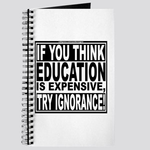 Education quote (Warning Label) Journal