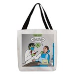 Zombie Dentist Polyester Tote Bag