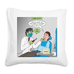 Zombie Dentist Square Canvas Pillow