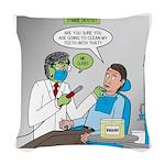 Zombie Dentist Woven Throw Pillow