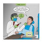Zombie Dentist Tile Coaster