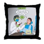Zombie Dentist Throw Pillow