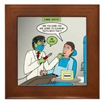 Zombie Dentist Framed Tile