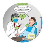 Zombie Dentist Round Car Magnet
