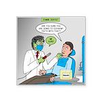 Zombie Dentist Square Sticker 3