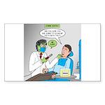 Zombie Dentist Sticker (Rectangle 10 pk)