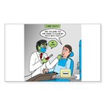 Zombie Dentist Sticker (Rectangle)
