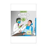 Zombie Dentist Mini Poster Print