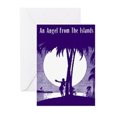 Angel From The Islands Greeting Cards (Package of