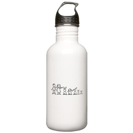 5 bunnies family Stainless Water Bottle 1.0L