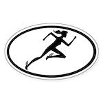 Mercury Girl Oval Sticker