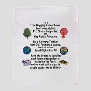Independent Thinker Throw Blanket
