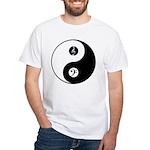 Yin Yang With Bass & Treble Clefs T-Shirt