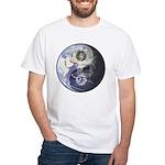 Earth Yin Yang With Music Clefs Men's T-Shirt