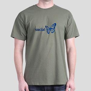Social Butterfly Dark T-Shirt
