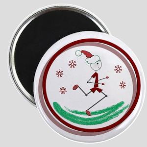 Holiday Runner Guy Magnet