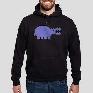 Pixel Hippo Hoodie (dark)