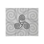 Celtic Triple Spiral Throw Blanket