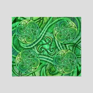 Celtic Triskele Throw Blanket