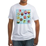 Polka Dot Cupcakes Fitted T-Shirt