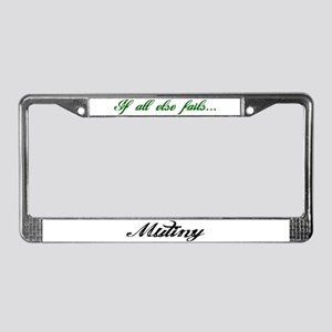 Mutiny - Black and green License Plate Frame