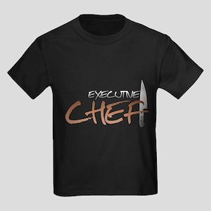 Orange Executive Chef Kids Dark T-Shirt