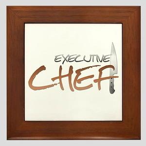 Orange Executive Chef Framed Tile