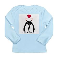 Loving Penguins Long Sleeve Infant T-Shirt