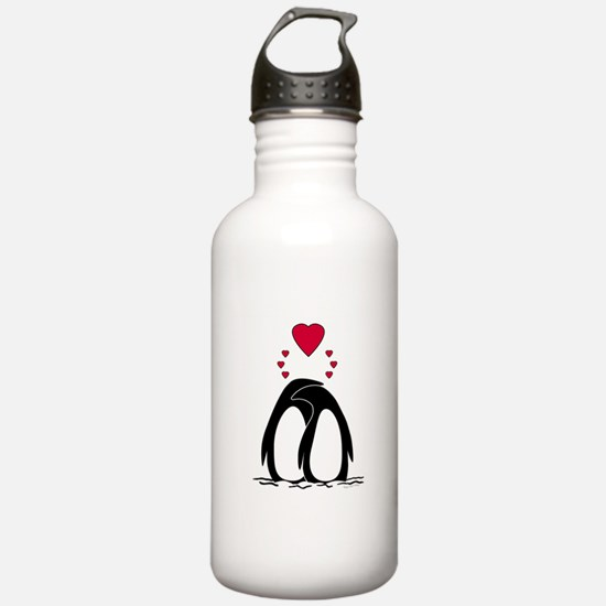 Loving Penguins Water Bottle