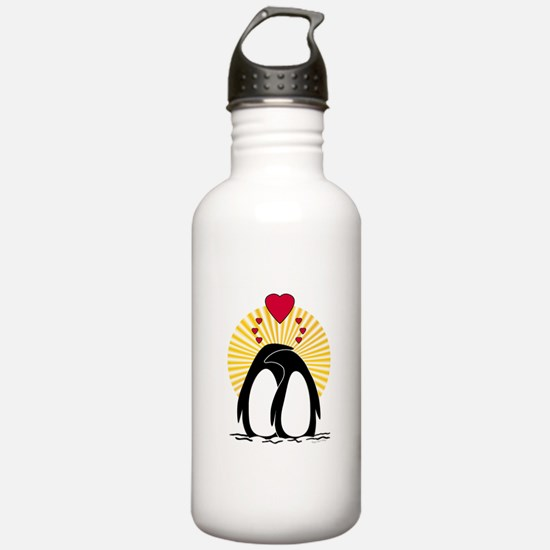 Loving Penguins Sun Water Bottle