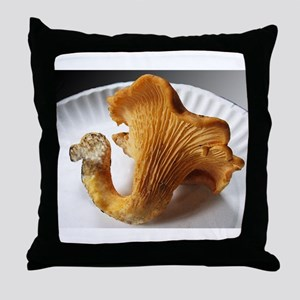 Yellow Chantrelle Throw Pillow