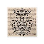 "J. S. Bach Royal Seal 3"" Square Sticker"