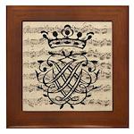 J. S. Bach Royal Seal Framed Tile