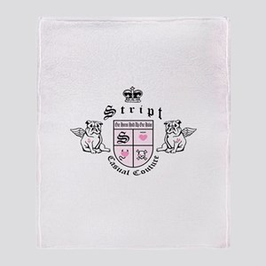 Stript Casual Couture Throw Blanket