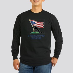 PUERTORICO Long Sleeve Dark T-Shirt
