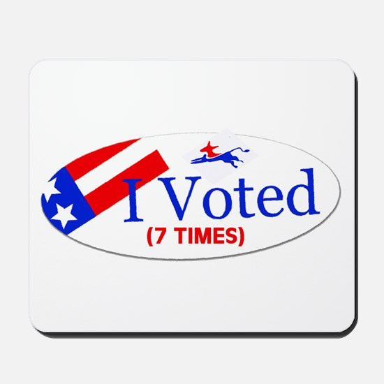VOTE EARLY AND OFTEN Mousepad
