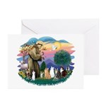 St Francis (ff)-7 Cats Greeting Cards (Pk of 10)
