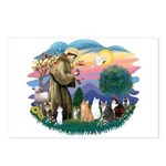 St Francis (ff)-7 Cats Postcards (Package of 8)