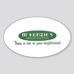 McKenzie's Pastry Shoppe Oval Sticker