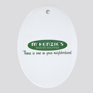 McKenzie's Pastry Shoppe Oval Ornament