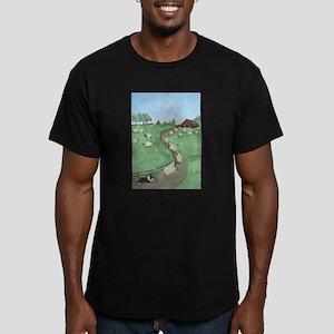Street of Dreams Men's Fitted T-Shirt (dark)