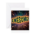 Awesome Explosion Greeting Cards