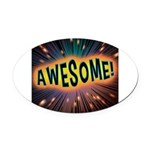 Awesome Explosion Oval Car Magnet
