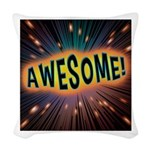 Awesome Explosion Woven Throw Pillow