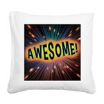 Awesome Explosion Square Canvas Pillow