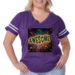 Awesome Explosion Women's Plus Size Football T-Shi