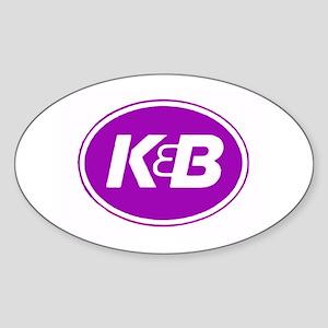 K&B Retro Oval Sticker