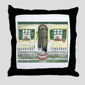 Sunny Porch Throw Pillow