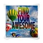 Find Your Awesome Woven Throw Pillow